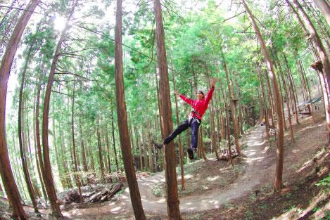 神鍋高原到着!<br /> 森の中に新たにできたハイレベルなアスレチックへGO!